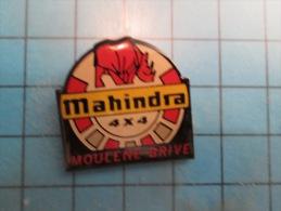 (pin713i) Pin´s Pins / Thème : MARQUES / MAHINDRA 4X4 RHINOCEROS ROUGE MOULENE BRIVE  Marquage Au Dos : ----------- ( Da - Animaux