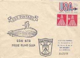 USS PINTADO SUBMARINE SPECIAL POSTMARK ON COVER, 1987, USA - Submarines