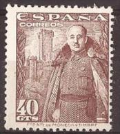 ES1027-LA207.GENERAL FRANCO Y CASTILLO DE LA MOTA  1948/54 (Ed 1027**) Nuevo, Sin Charnela - 1931-50 Nuevos & Fijasellos