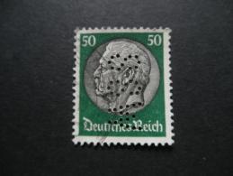 Deutsches Reich Michel 492 50 PF DURCHLOCHUNG 88W - Gebraucht