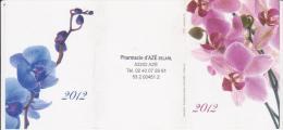 Calendrier De Poche Fleurs Orchidées - Année 2012 - Tamaño Pequeño : 2001-...