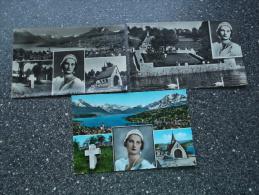LOT Van 3 Kaarten: KÜSSNACHT Gedachtniskapelle Der KONINGIN ASTRID - Familles Royales
