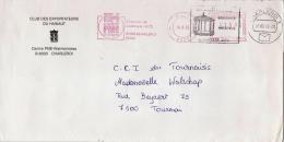 EMA Freistempel : Centre PME Charleroi, Gilly - Puzzle 1992 - Double Afranchissement Avec Kiosque Godarville ! - Marcophilie