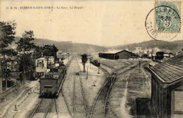 76 ELBEUF ST AUBIN  LA GARE LE DEPART - Elbeuf