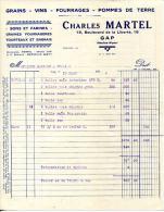 05.HAUTES ALPES.GAP.GRAINS.VINS.FOURRAGES.POMMES DE TERRE.CHARLE MARTEL 18 BOULEVARD DE LA LIBERTE. - Agriculture