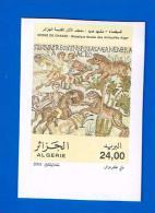 Algérie Algeria Mosaïques Mosaics Lion Felin Cheval Horse Pferd Cavalier Caballo 2003 Non Dentelée ND Imperforate Imperf - Algérie (1962-...)