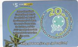 MICRONESIA - JICA 20th Anniversary, FSM Tel Prepaid Card $5, Used - Micronésie