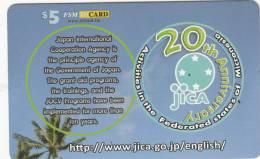 MICRONESIA - JICA 20th Anniversary, FSM Tel Prepaid Card $5, Used