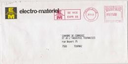 """EMA Freistempel : Templeuve Tournai  Electro-matériel, Bobine, électricité - Manque Le """"R"""" Et Le """"E"""" - Electricité"""