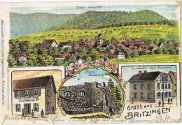 S6/ALL - Litho Gruss Aus BRITZINGEN - Total Ansicht - Gasthaus Zum Hirschen Und Ruine Neuenfeld - Autres