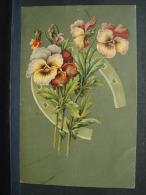 CP. 429. Fleurs, Pensées Dans Un Fer à Cheval - Fleurs, Plantes & Arbres
