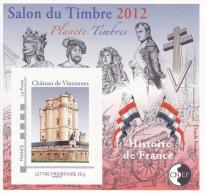 Bloc CNEP N° 61 Paris Salon Du Timbre 2012 - CNEP