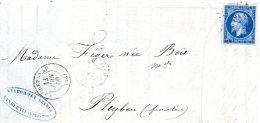 Finistère - LAC (voir Scans) Affr N° 14A Obl PC 1627 C 15 Landerneau - 1849-1876: Klassieke Periode