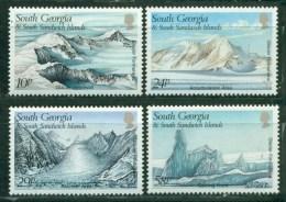 1989 South Georgia & South Sandwich Isl. - Mountains, Icebergs, Glaciers, 4v., Mi 176/179  MNH - Islands