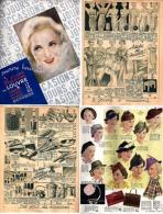 AU LOUVRE - Brochure De 18 Pages [Manteaux, Robes, Accessoire, Lingerie, Chapeau, Sac, Parapluie,vaisselle...]_L 7 - Vintage Clothes & Linen
