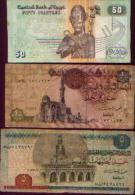 EGYPTE - Lot De 3 Billets - Egypte