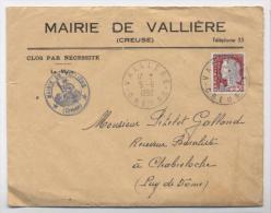 Lettre 1962-MAIRIE DE VALLIERE CREUSE-AB3 - France