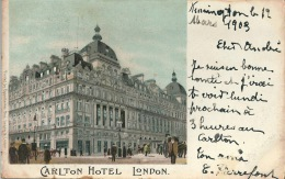 LONDRES LONDON HOTEL CARLTON LITHO - Other