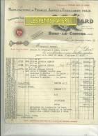42 - Loire -  SURY-LE-COMTAL - Facture LYOTARD - Pédales - 1945 - Cyclisme