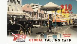 BERMUDA ISL. - Front Street/Hamilton, TeleBermuda Prepaid Card $10, Used - Bermuda