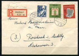 1527 - DEUTSCHLAND-BUND - Mi.Nr. 170,171 Und 172 UR Auf Portogerechtem R-Brief Mit Ank.-Stempel - BRD