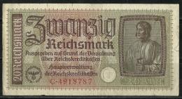 Deutschland Occupation Bank Note 20 Reichsmark Serie C - [ 9] Territoires Allemands Occupés