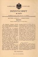 Original Patentschrift - Kettling & Braun In Crimmitschau , 1897 , Bügelmaschine  Bügeleisen , Bügeln !!! - Maschinen