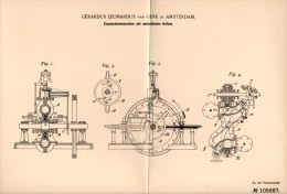 Original Patentschrift - Gerardus L. Van Gink In Amsterdam , 1899 , Expansionsmaschine Mit Kolben , Dampfmaschine !! - Machines