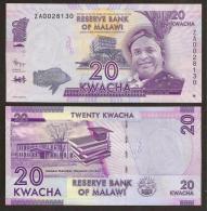 MALAWI. 20 Kwacha 2012. UNC. ZA Series - REPLACEMENT NOTE. - Turkménistan