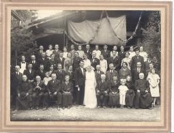 PHOTO -BEAU MARIAGE  DEUX CURES ET UN ACCORDEONISTE 26 X 20CM - Photographie