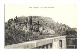 Cp, 90, Belfort, Le Lion Et Le Château - Belfort – Le Lion
