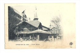 Cp, 75, Paris, Expositon De 1900, Chalet Suisse - Exposiciones