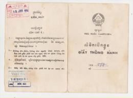 Passeport CAMBODGE Pour Vietnam 1992 CAMBODIA Passport For Vietnam - Historische Documenten
