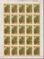 H147 CUBA 1970 MEDICINAL PLANTS SHEET LIGERAS MANCHAS - Blocs-feuillets