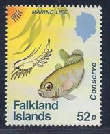 Falkland Islands, Scott # 415 Mint Hinged Fish, Wildlife Conservation, 1984 - Falkland Islands