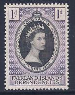 Falkland Islands Dependencies, Scott # 1L18 Mint Hinged Coronation, 1953 - Falkland