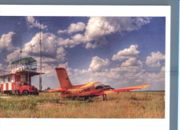 (346) Aviation - Avion En Vol - Yellow Plane At Airport + Control Tower Truck ? - Aerodrome