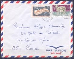 SAINT PIERRE ET MIQUELON   Lettre  Juillet 1971      2 Timbres   ELEVAGE Et  50eme ANN O.I.T Pour ST SERVAN  PAR AVION - St.Pierre Et Miquelon