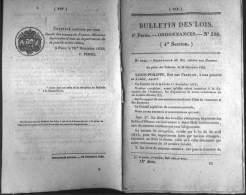 Bulletin Des Lois Du 29 Décembre1835 – 178 Ans D'âge ! - LEGION ETRANGERE,ordonnance Du Roi Qui Prescrit La Formation D' - Decrees & Laws