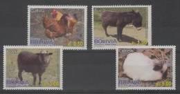 Bolivia (2012)  - Set -  /  Donkey - Sheep - Rabbit - Lapin - Domestic - Farm - Fattoria