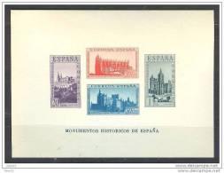 ES848-L3621TARI.España.Sp Ain  Espagne HB.MONUMENTOS HISTORICOS,1938 ( Ed. 848**) Sin Charnela. SIN DENTAR LUJO - Iglesias Y Catedrales