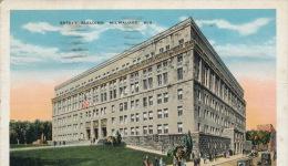 ( CPA ÉTATS UNIS )  MILWAUKEE  /  WISCONSIN  /   Safety Building  - - Milwaukee