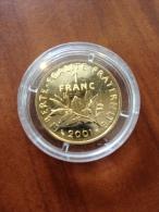 France 1 Francs Or De 2001  8g à 750 Millièmes Tirage 9941 - H. 1 Franc