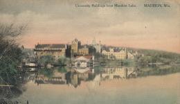 ( CPA ÉTATS UNIS )  MADISON  /  WISCONSIN  /  University Buildings From Mendota Lake  - - Madison