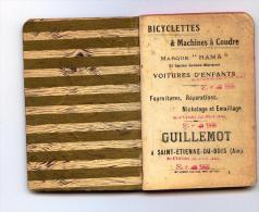 BICYCLETTES - VELO - RAMA - SAINT ETIENNE DU BOIS - CARNET DE NOTE+CALENDRIER 1912 - Petit Format : 1901-20