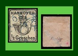 """.1865 Altdeutschland Hannover Mi.-Nr. 17 Signiert Richter Gestempelt Mit Falz """"Freimarke: Posthorn Unter Krone"""" # (0A11) - Hanover"""