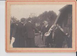 PH 08-13-208 : Photo Format 8.5 X 6 Cm Friscati Près Lunéville 1902 Départ De M. Videl - Luoghi