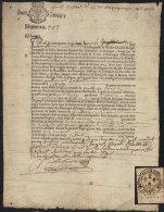 GENERALITE DE BRETAGNE  / 1683  LOT DE 2 EMPREINTES - 1 FRAGMENT & 1 DOCUMENT (ref 4632) - Cachets Généralité