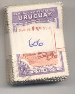 URUGUAY YVERT NR. 606  OBLITERE  PAQUETE X 100  -  AÑO 1951  - CENTENARIO DE LA MUERTE DEL GENERAL JOSE GERVASIO DE ARTI - Uruguay