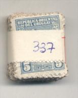 URUGUAY YVERT NR. 337  OBLITERE  PAQUETE X 100  -  AÑO 1927  - TERU TERU - TERO - AVES - PAJAROS - Uruguay